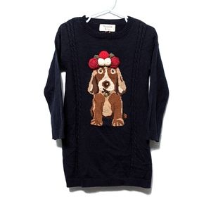 MAYORAL Navy Knitted Dog Sweater Dress 3T